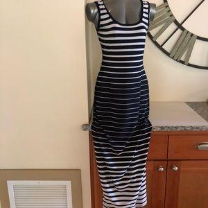 Rod & Ali Navy & white Maxi dress